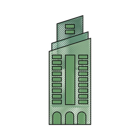 isolated building tower icon vector graphic illustration Banco de Imagens - 80687022
