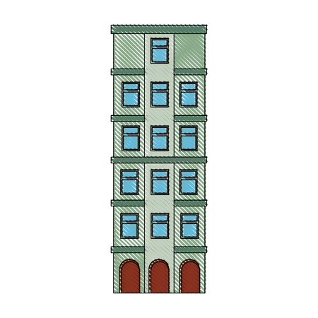 isolated building tower icon vector graphic illustration Banco de Imagens - 80687029