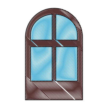 panels: isolated brown window icon vector graphic illustration