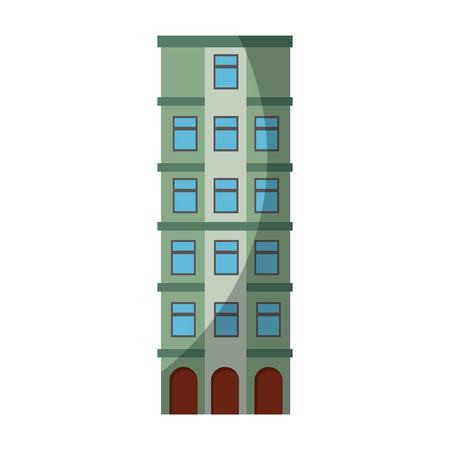 urban building tower icon vector graphic illustration