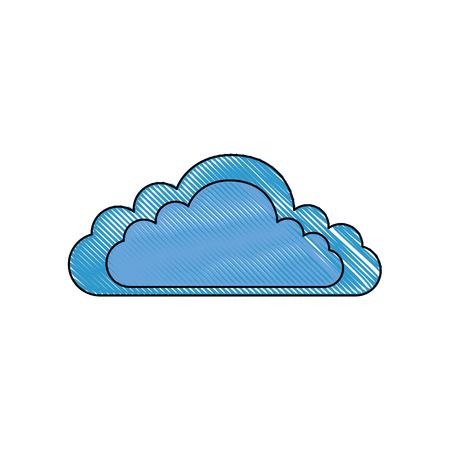 격리 된 구름 만화 아이콘 벡터 그래픽 일러스트 일러스트