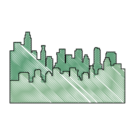 newyork: scribble city view icon vector graphic illustration