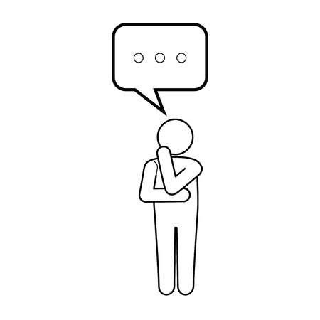 man thinking icon vector illustration graphic design Векторная Иллюстрация