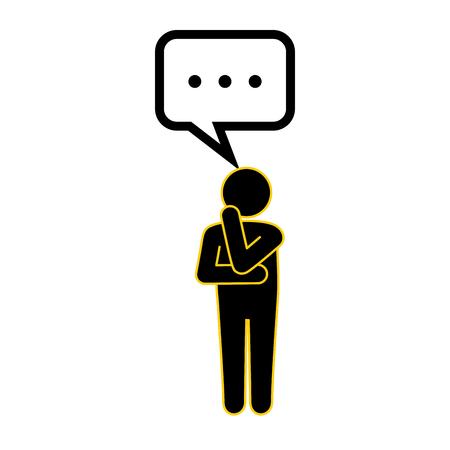 suspicion: man thinking icon vector illustration graphic design Illustration