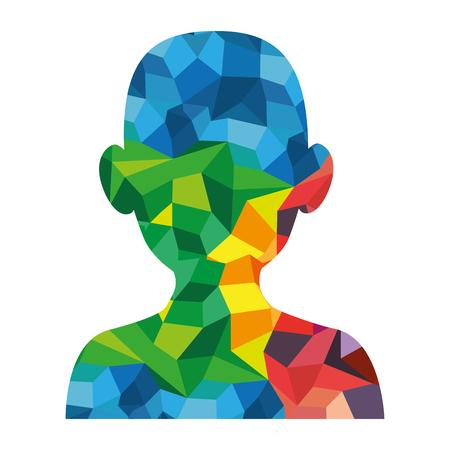 male head silhouette vector illustration graphic design Ilustrace