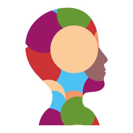 mannelijk hoofd silhouet vector illustratie grafisch ontwerp