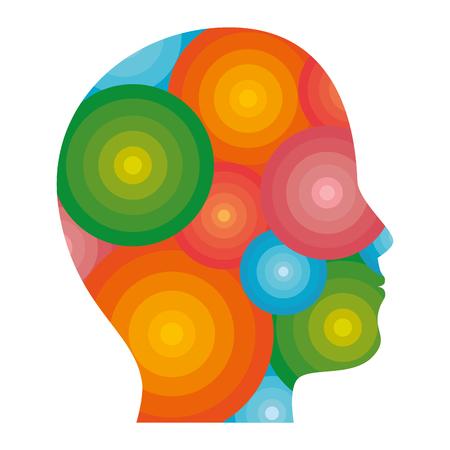 male head silhouette vector illustration graphic design 向量圖像