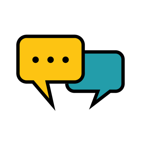 communicate  isolated: speech bubble icon vector illustration graphic design