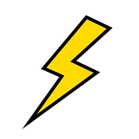 diseño gráfico aislado del ejemplo del vector del icono del trueno