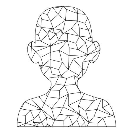 남성 머리 실루엣 벡터 일러스트 그래픽 디자인
