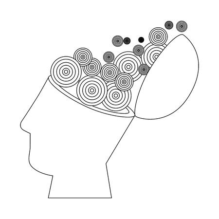 aislado resumen de la mente abierta ilustración vectorial diseño gráfico