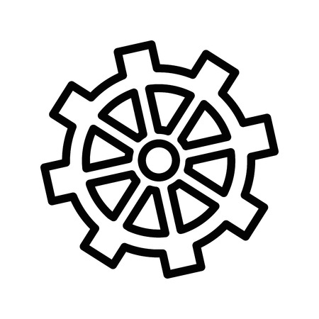 gearwheels: isolated gear icon vector illustration graphic design