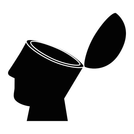 Isolato astratto aperto mente illustrazione vettoriale illustrazione grafica
