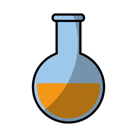poison bottle: beaker chemistry laboratory vector illustration graphic design