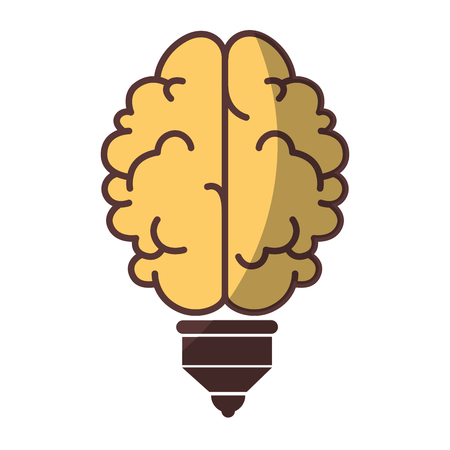 isolated abstract brain icon vector illustration graphic design Stock Vector - 80688179