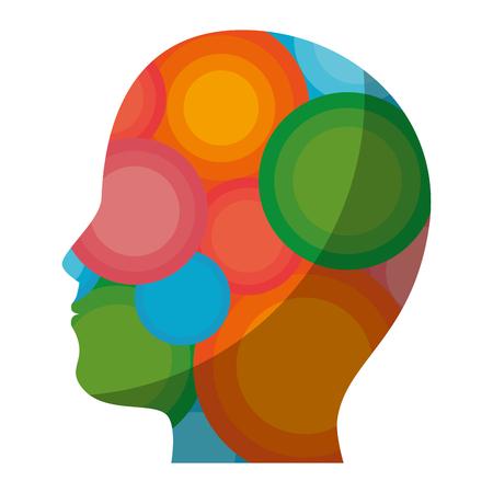 cabeza masculina silueta ilustración vectorial diseño gráfico