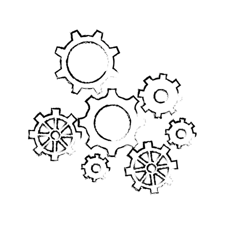 isolated gear icon vector illustration graphic design