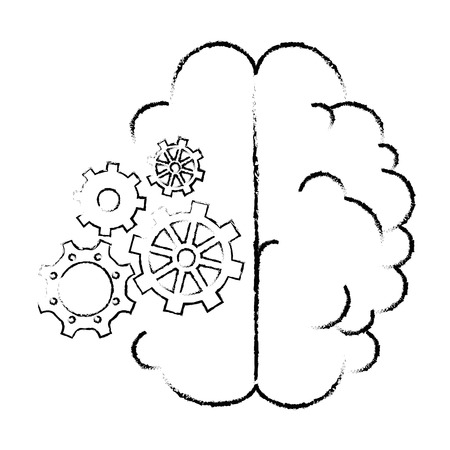 isolated abstract brain icon vector illustration graphic design Stock Vector - 80688316