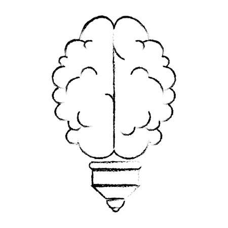 isolated abstract brain icon vector illustration graphic design