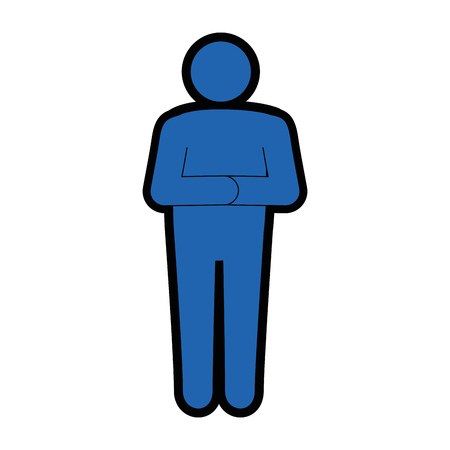 stand up man icon vector illustration graphic design