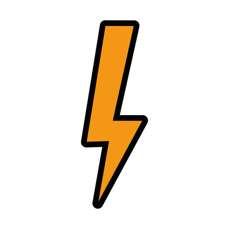isolated thunder icon vector illustration graphic design