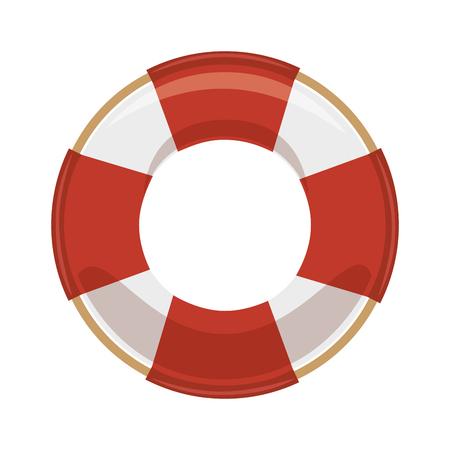geïsoleerde reddingsboei pictogram pictogram vector grafische illustratie