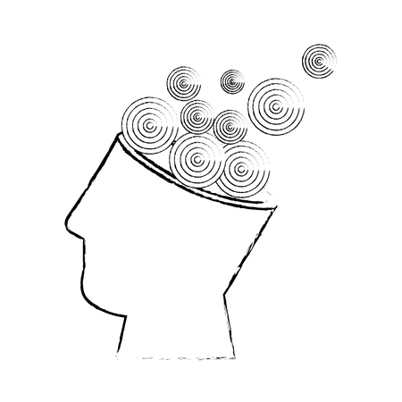 isolated abstract open mind vector illustration graphic design Illustration