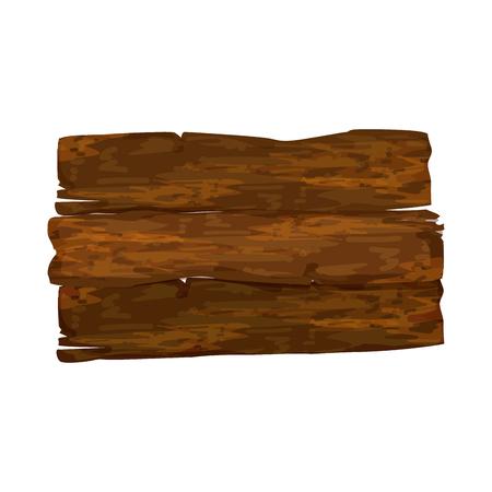 空の木製標識アイコン ベクトル図  イラスト・ベクター素材