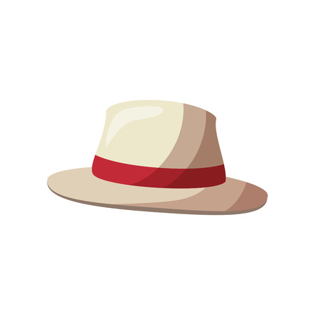 isolated beach hat icon vector graphic illustration