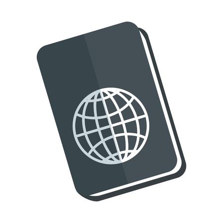 isolated travel passport icon vector graphic illustration