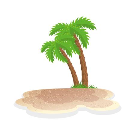 izolowane Palma plaży ikonę grafiki wektorowej ilustracji