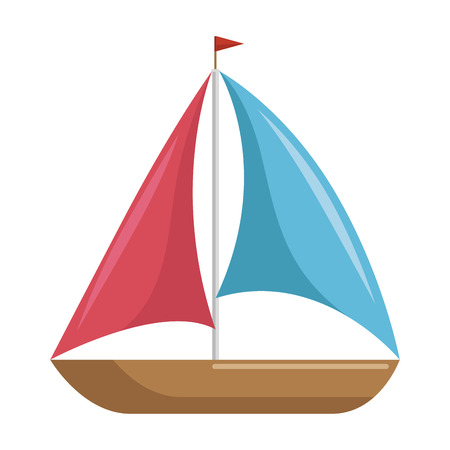isolated brightly sailboat icon vector graphic illustration Stok Fotoğraf - 80688557