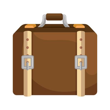isolated shadow travel suitcase icon vector graphic illustration Illusztráció