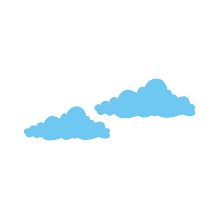 isolated cute clouds icon vector graphic illustration Çizim