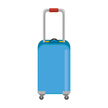 isolated shadow travel suitcase icon vector graphic illustration Ilustração