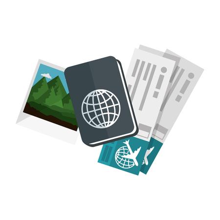 geïsoleerde reizen kit pictogram vector grafische illustratie Vector Illustratie