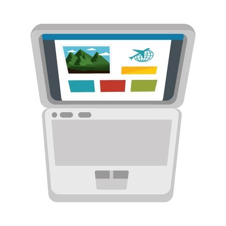 colorfull: isolated touristic pc information icon vector illustration graphic design