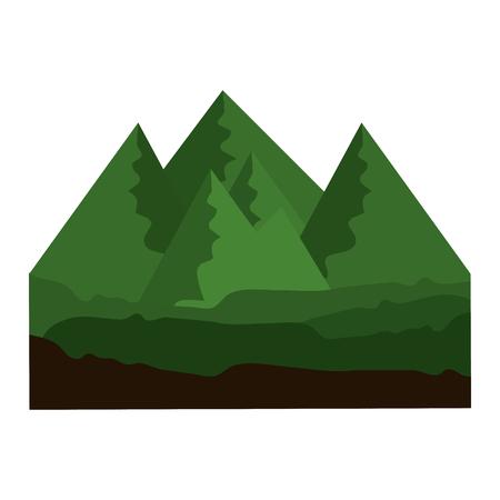 孤立峰表示アイコン ベクトル イラスト グラフィック デザイン
