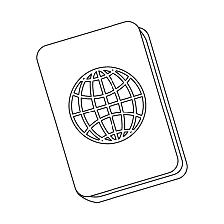 isolated travel passport icon vector graphic illustration