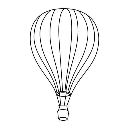 hot air balloon icon vector graphic illustration Illustration