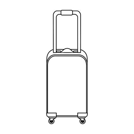 isolated shadow travel suitcase icon vector graphic illustration Çizim