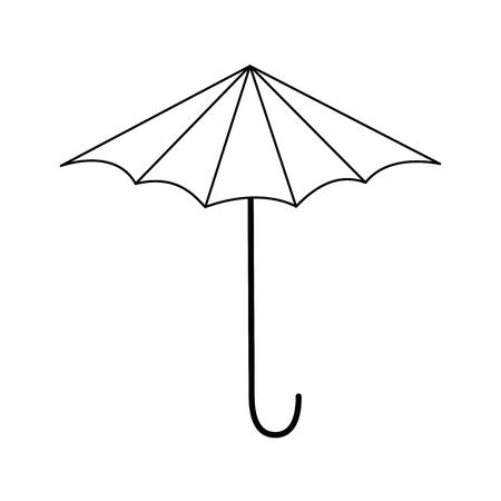 geïsoleerde strand paraplu pictogram vector grafische illustratie Stock Illustratie
