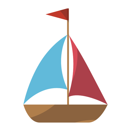 isolated brightly sailboat icon vector graphic illustration Stok Fotoğraf - 80688744