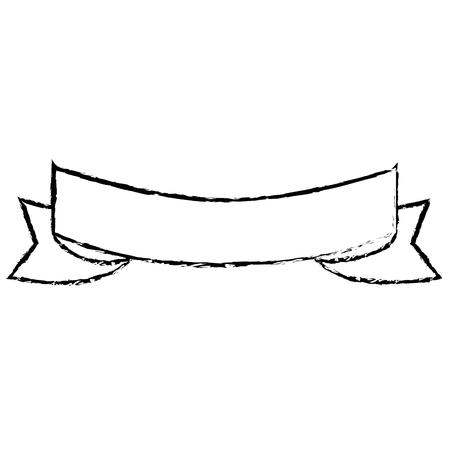 孤立した装飾的なリボンのアイコン ベクトル図  イラスト・ベクター素材