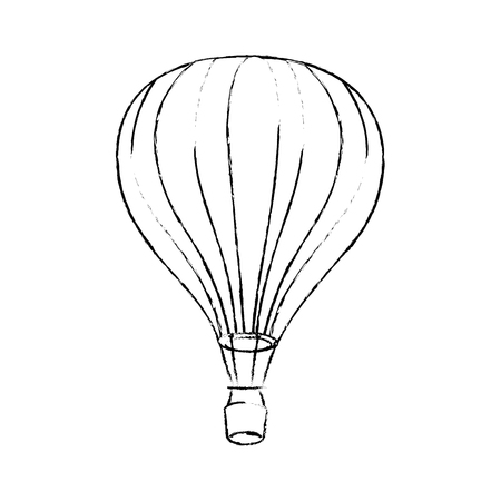 hot air balloon icon vector graphic illustration Stock Illustratie