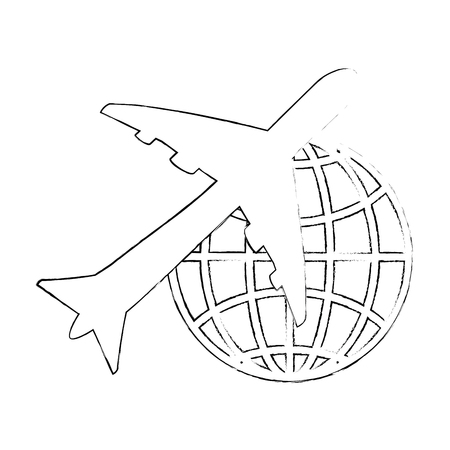jetliner: isolated big airplane icon vector illustration graphic design