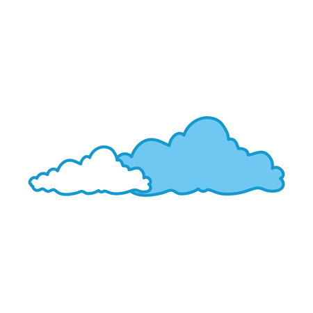 isolated cute clouds icon vector graphic illustration Illustration