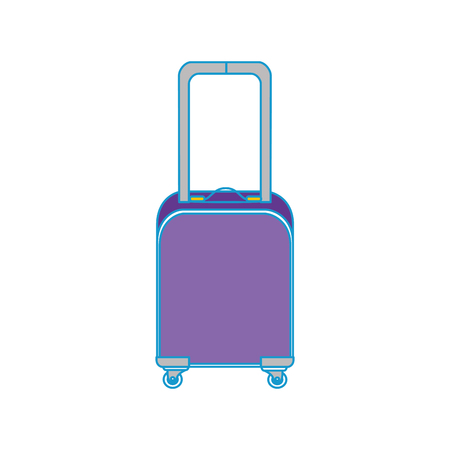 isolated travel suitcase icon vector graphic illustration