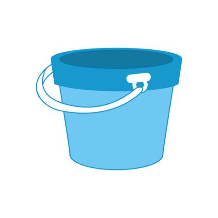 isolated bucket of sand icon vector graphic illustration Illustration