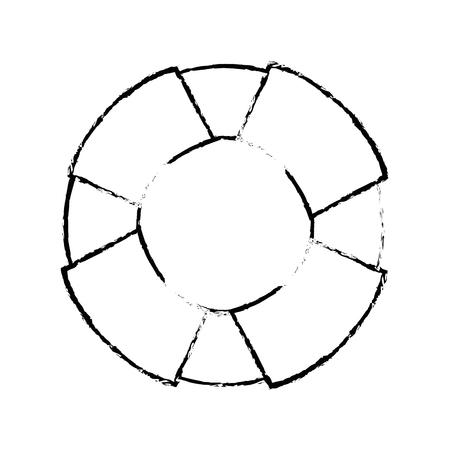 Isolierte Rettungsring Symbol Vektor Grafik Illustration Meer Standard-Bild - 80689103